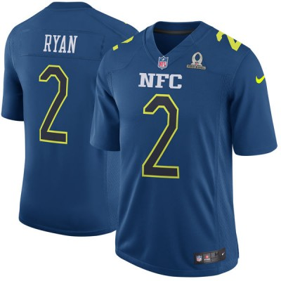 Nike NFL Falcons 2 Matt Ryan NFC Navy 2017 Pro Bowl Game Jersey