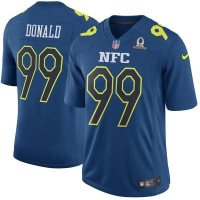 Nike NFL Rams 99 Aaron Donald Nike Navy 2017 Pro Bowl Game Jersey