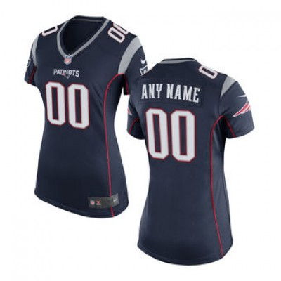 Women's New England Patriots Nike Navy Blue Customized Jersey