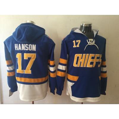 Movie Hanson Brothers Charlestown Chiefs 17 Jack Hanson Blue Men Sweatshirt