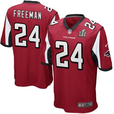 Youth Atlanta Falcons 24 Devonta Freeman Nike Red Super Bowl LI Jersey