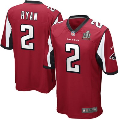 Youth Atlanta Falcons 2 Matt Ryan Nike Red Super Bowl LI Jersey