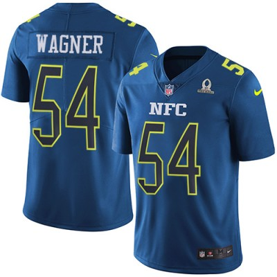 Nike Seahawks 54 Bobby Wagner NFC Navy 2017 Pro Bowl Jersey