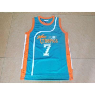 Movie Flint Tropses 7 blue coffeee black Basketball Men Jersey
