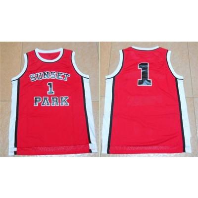 Movie Sunset Park 1 Red Basketball Men Jersey