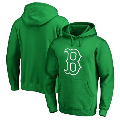Boston Red Sox Fanatics Branded Kelly Green St. Patrick's Day White Logo Pullover Hoodie