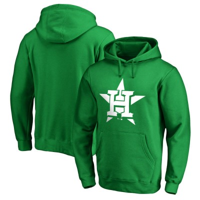 Houston Astros Fanatics Branded Kelly Green St. Patrick's Day White Logo Pullover Hoodie