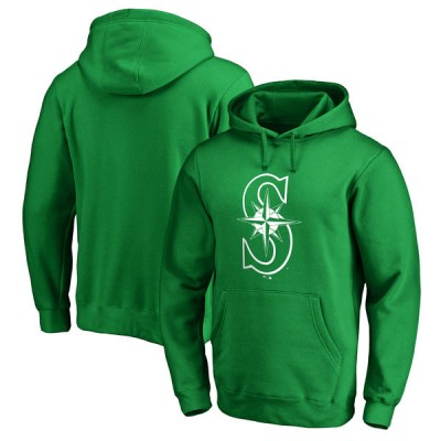 Seattle Mariners Fanatics Branded Kelly Green St. Patrick's Day White Logo Pullover Hoodie