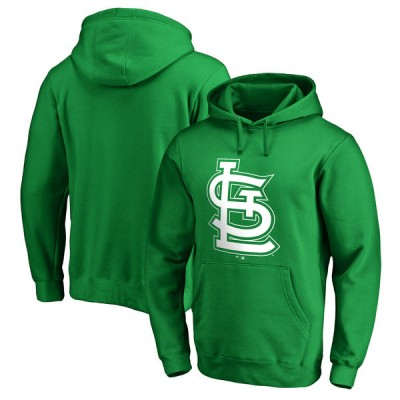 St. Louis Cardinals Fanatics Branded Kelly Green St. Patrick's Day White Logo Pullover Hoodie