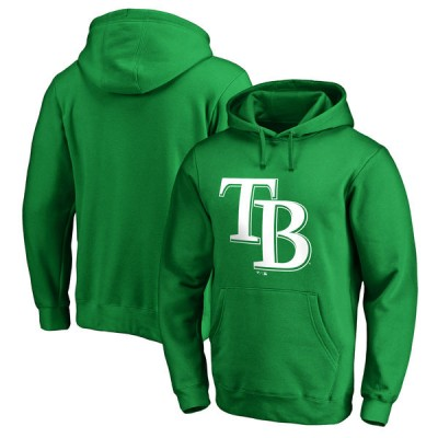 Tampa Bay Rays Fanatics Branded Kelly Green St. Patrick's Day White Logo Pullover Hoodie