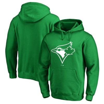 Toronto Blue Jays Fanatics Branded Kelly Green St. Patrick's Day White Logo Pullover Hoodie