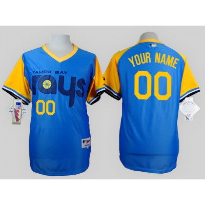 Tampa Bay Rays Blue 1988 Turn Back The Clock Men's Customized Throwback Jersey