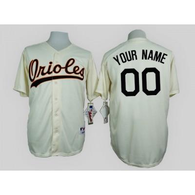 Baltimore Orioles Cream 1954 Turn Back The Clock Men's Customized Jersey