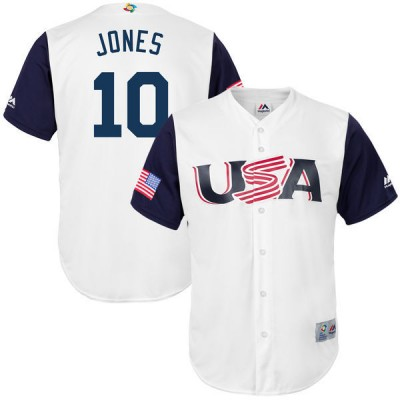 USA Baseball 10 Adam Jones White 2017 World Baseball Classic Jersey