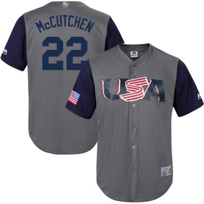 USA Baseball 22 Andrew McCutchen Gray 2017 World Baseball Classic Jersey