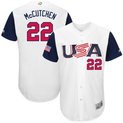 USA Baseball 22 Andrew McCutchen White 2017 World Baseball Classic Jersey