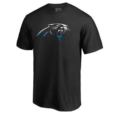 Men's Carolina Panthers Pro Line by Fanatics Branded Black Big & Tall Gradient Logo T-Shirt
