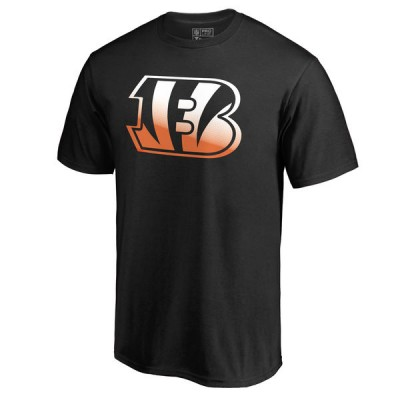 Men's Cincinnati Bengals Pro Line by Fanatics Branded Black Gradient Logo T-Shirt