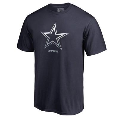Men's Dallas Cowboys Pro Line by Fanatics Branded Navy Big & Tall Gradient Logo T-Shirt