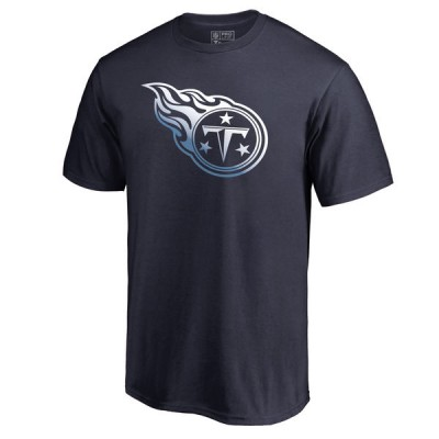 Men's Tennessee Titans Pro Line by Fanatics Branded Navy Gradient Logo T-Shirt