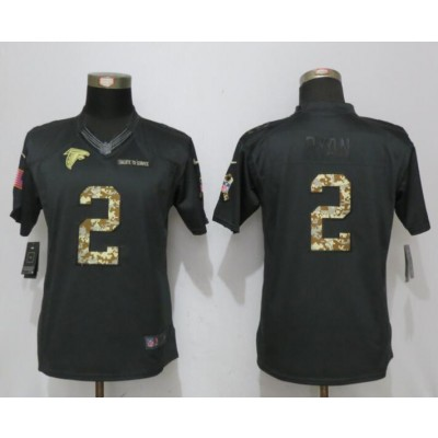 Nike Falcons 2 Matt Ryan Anthracite Women Salute to Service Limited Jersey