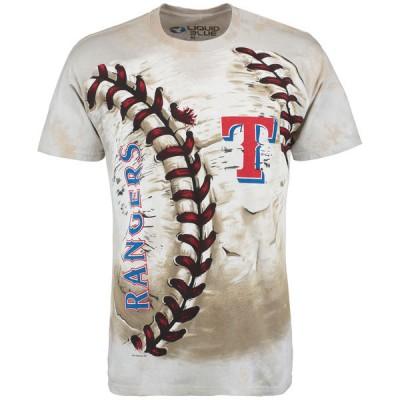 Texas Rangers Hardball Tie-Dye Cream T- Shirt