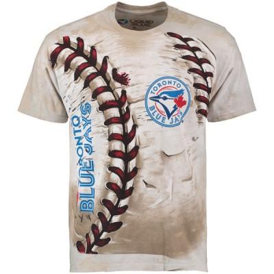Toronto Blue Jays Hardball Tie-Dye Cream T- Shirt