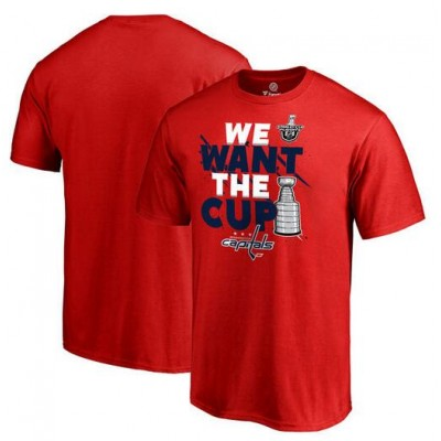 Washington Capitals Fanatics Branded 2017 NHL Stanley Cup Playoff Participant Blue Line Big & Tall Red T-Shirt