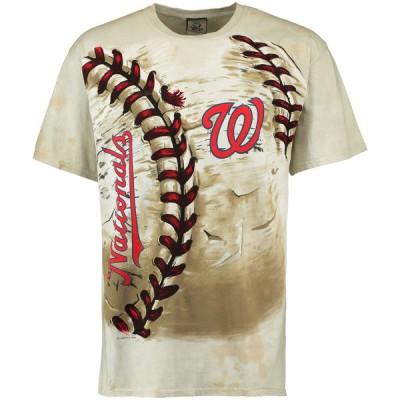 Washington Nationals Hardball Tie-Dye Cream T-Shirt