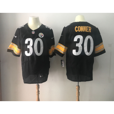 Nike Steelers 30 James Conner 2017 NFL Draft Black Elite Jersey