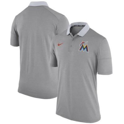 Nike Miami Marlins Men's Gray Polo