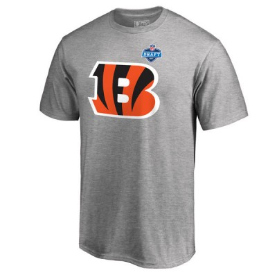 Cincinnati Bengals Pro Line by Fanatics Branded Heather Gray 2017 NFL Draft Athletic Heather Men T-Shirt