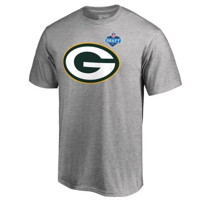 Green Bay Packers Pro Line by Fanatics Branded Heather Gray 2017 NFL Draft Athletic Heather Men T-Shirt