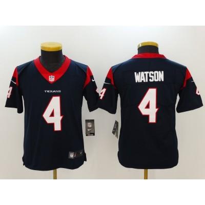 Nike Texans 4 Deshaun Watson Navy Youth Limited Jersey