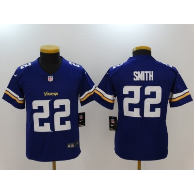 Nike Vikings 22 Harrison Smith Purple Vapor Untouchable Youth Limited Jersey