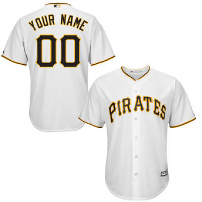 Pittsburgh Pirates White Youth Customized Cool Base Jersey