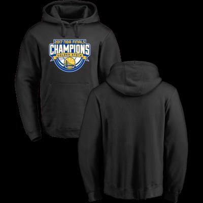 Golden State Warriors Fanatics Branded 2017 NBA Finals Champions Black Pullover Hoodie