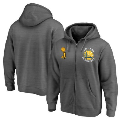 Golden State Warriors Fanatics Branded 2017 NBA Finals Champions Boxout Performance Charcoal Hoodie