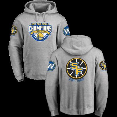 Golden State Warriors Fanatics Branded 2017 NBA Finals Champions Grey Pullover Hoodie