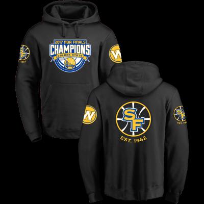 Golden State Warriors Fanatics Branded 2017 NBA Finals Champions Pullover Hoodie