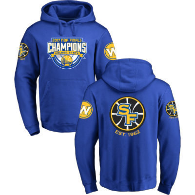 Golden State Warriors Fanatics Branded 2017 NBA Finals Champions Royal Pullover Hoodie