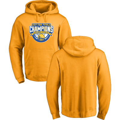 Golden State Warriors Fanatics Branded 2017 NBA Finals Champions Yellow Pullover Hoodie