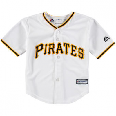 Pittsburgh Pirates White toddler Customized Cool Base Jersey