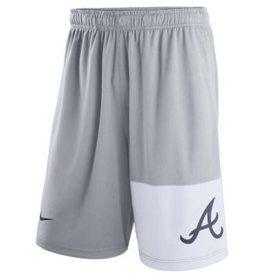 Men's Atlanta Braves Nike Gray Dry Fly Shorts