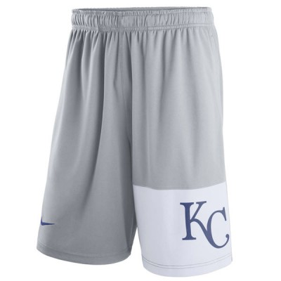 Men's Kansas City Royals Nike Gray Dry Fly Shorts