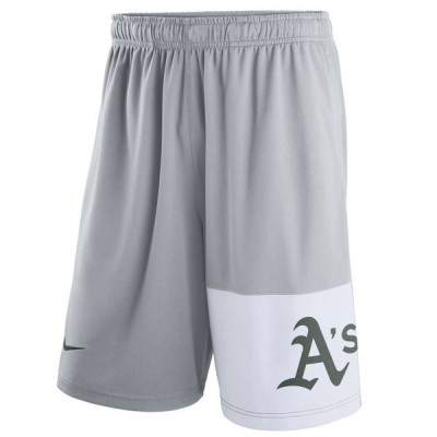 Men's Oakland Athletics Nike Gray Dry Fly Shorts
