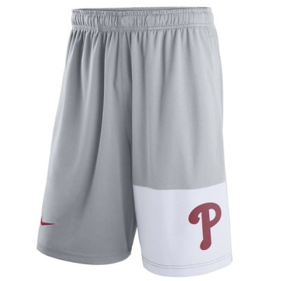 Men's Philadelphia Phillies Nike Gray Dry Fly Shorts