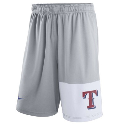 Men's Texas Rangers Nike Gray Dry Fly Shorts