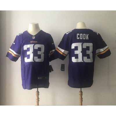 Nike Vikings 33 Dalvin Cook 2017 NFL Draft Purple Elite Jersey