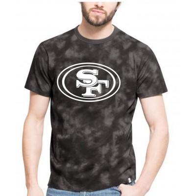 NFL 49ers Team Logo Black Camo Men's T Shirt